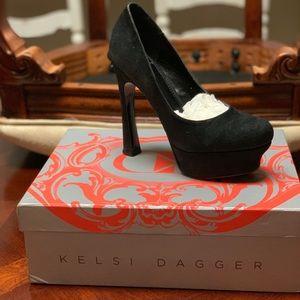 Kelsi Dagger black stilettos